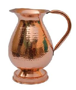 Handmade Drinking Glass Copper Jug