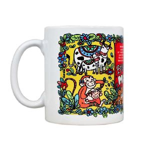Logo printing custom enamel mug
