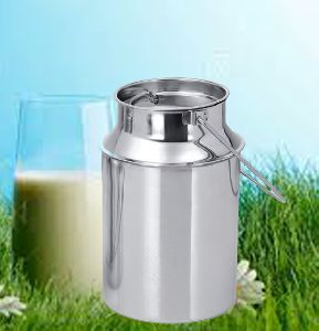 Stainless Steel Metal Flower Milk Can