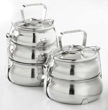 Steel Picnic Tiffin With Handle And Dividers