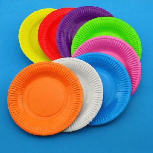 Coloured Paper Plates