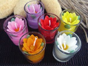 Decorative Glass Candle
