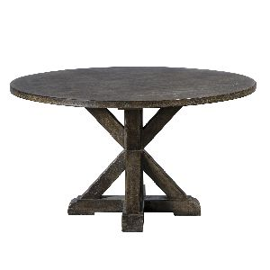 Dining Table Round Crossed Base