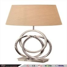 brass fabric lamp