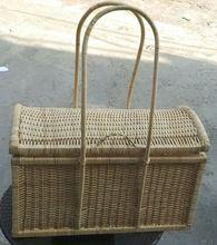 Hand Painted Bamboo Fruit Basket