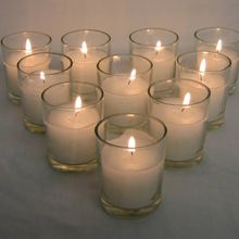 White Votive Glass Candle