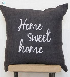 Home Hand Embroidered Linen Cushion