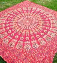 Jaipur Print Peacock Design Bedspread
