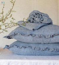 ruffles linen pillows