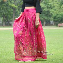Pink Indian Traditional Girls Gypsy Skirt