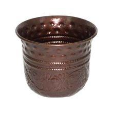 Dark Copper Pot Planter