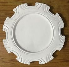 High Quality White Wooden Charger Plate