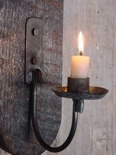 Black Metal Candle Wall Sconce