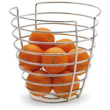 Chrome Plated Decorative Basket