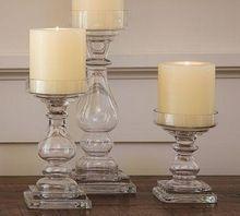 Glass Pillar Holder