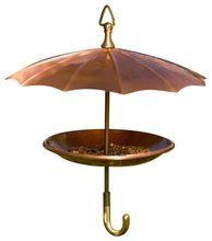 Metal Umbrella Shaped Bird Feeder