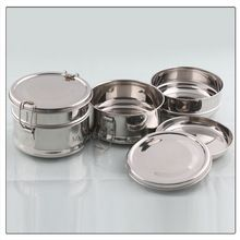 Stainless Steel Round Lunch Box