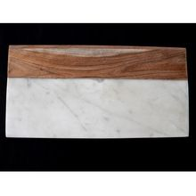 Rectangle Wood And Marble Cutting Board