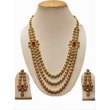 Three Line Kundan Necklace Set