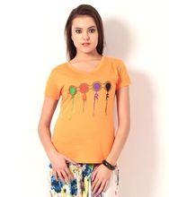 Cotton Printed Women Tshirt