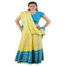Bandhej Cotton Jaipuri Lehenga Choli