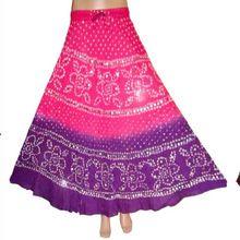 Jaipuri Bandhej Skirt