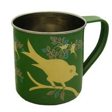 Bird Floral Hand Painted Coffee Water Mug