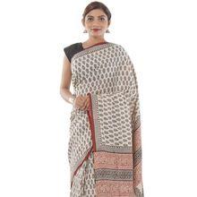 Cotton Fabric Ethnic Saree