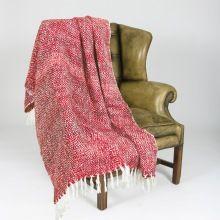 Red Wool Throw Blanket
