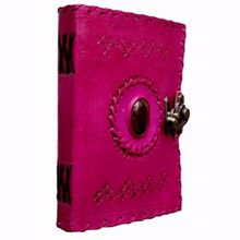 Embossed Pink Leather Diary