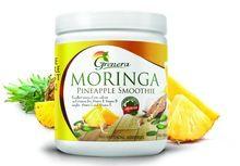 Moringa Powder Blended With Mango Smoothie