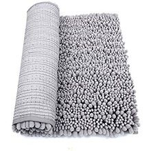 Washable Microfiber Chenille Bath Rugs