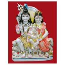 Lord Marble Shiv Parvati Statues