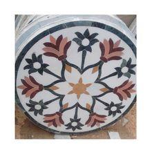 Round Inlaid Marble Flooring