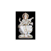 White Marble Saraswati Statues