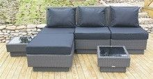 Rattan Corner Sofa Set With Cushion