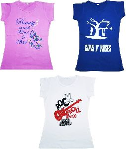 Girls Half Sleeve T-shirts