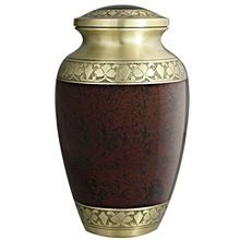 Brass Antique Burial Funeral Adult Cremation Urn