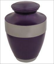 Brass Purple Cremation Urn