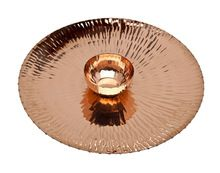 Copper Finish Chip And Dip Serving Set
