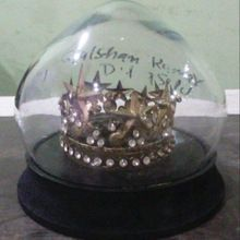 Crown in Glass Dome