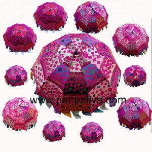 Handmade Indian Boho Garden Party Parasols Umbrellas