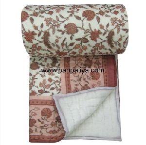 Queen Hand Printed Floral Jaipuri Razai
