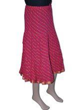 Bandhani Printed Gypsy Elastic Skirt