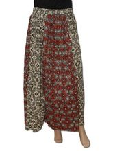 Long Short Brown Peasant Boho Skirt