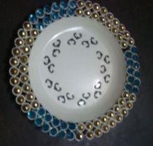 Designer Beaded Charger Plate
