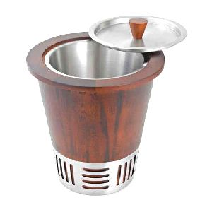Metal And Wood Ice Bucket