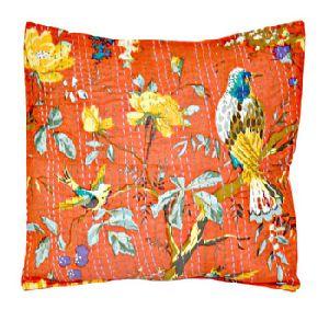 Cotton Sari Ethnic Kantha Pillow