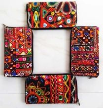 Banjara Bright Multicolor Mirror work Small Pouch