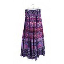 Cotton Jaipuri Printed Boho Hippie Banjara Long Skirt